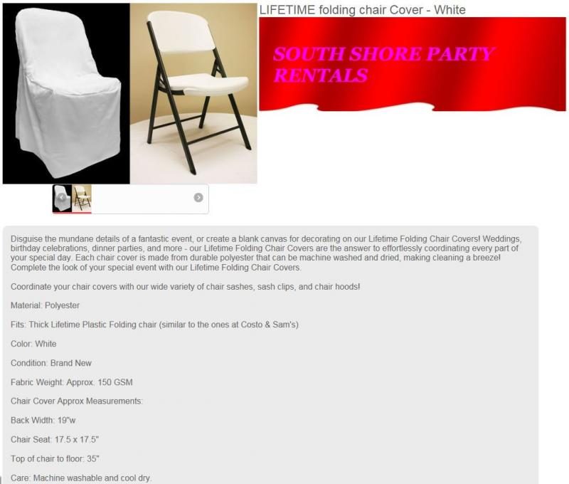 south shore party rentals folding chair covers rentals 774 776